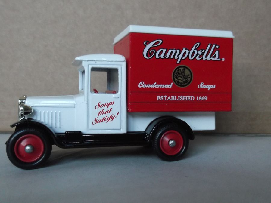 SL51002, Chevrolet Box Van, Campbells Soup (white cab)