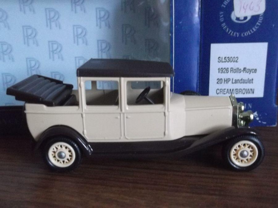 SL53002, Rolls-Royce Landaulet, Cream and Brown