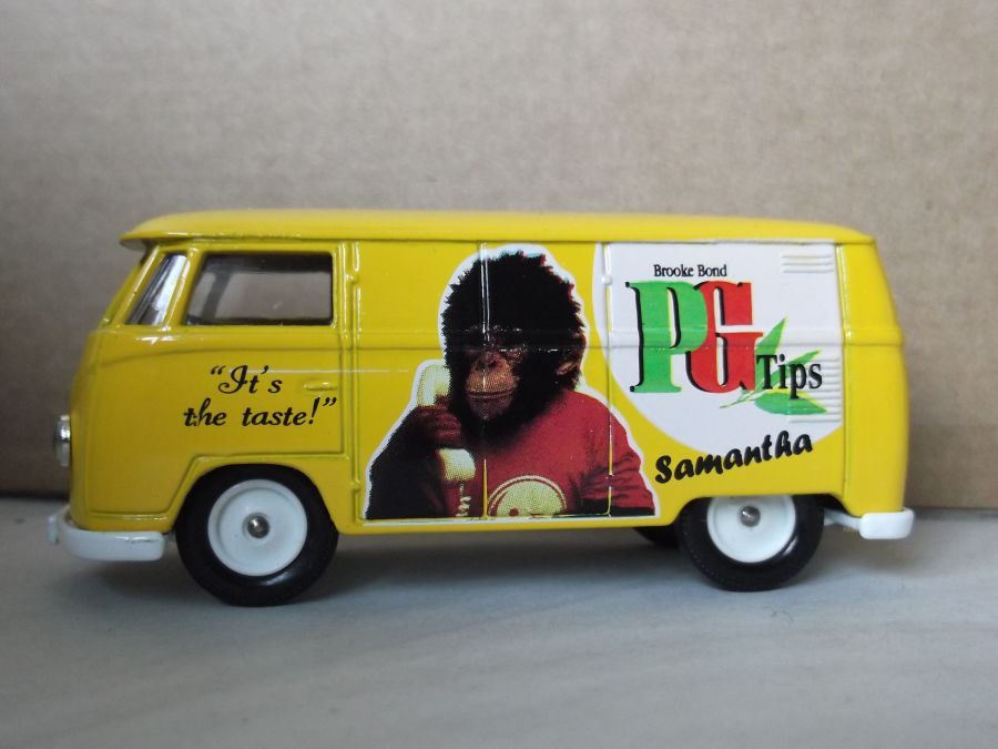 SL73000, VW Volkswagen Kombi Transporter Panel Van, Brooke Bond PG Tips, Samantha Tipps