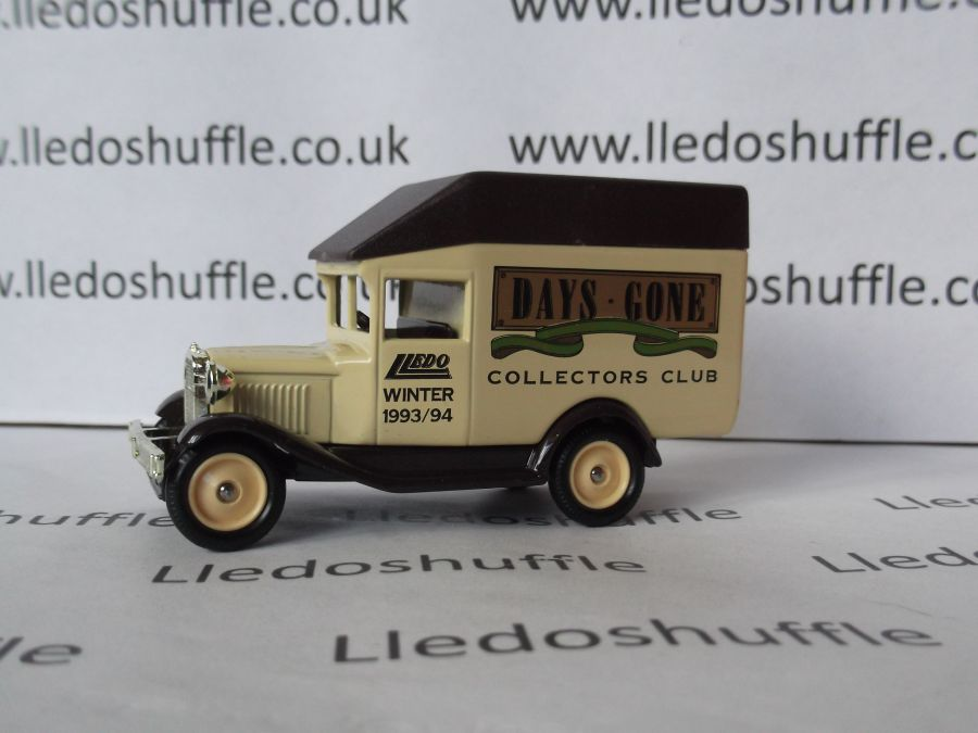 DG56000, Model A Ford High Roof Van, Club Winter 1993/94