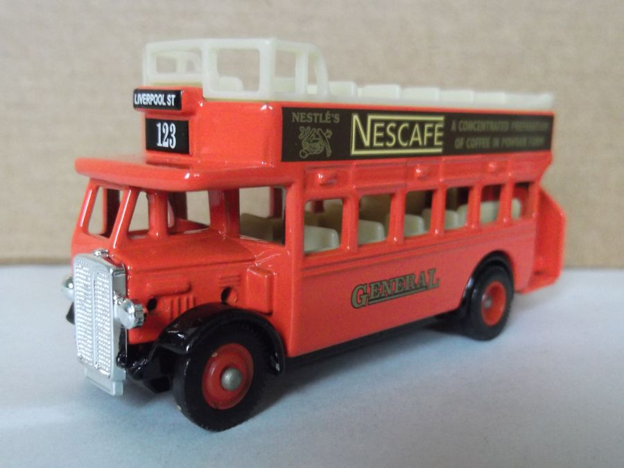 DG68011, AEC Regent Open Top Bus, General, Nescafe
