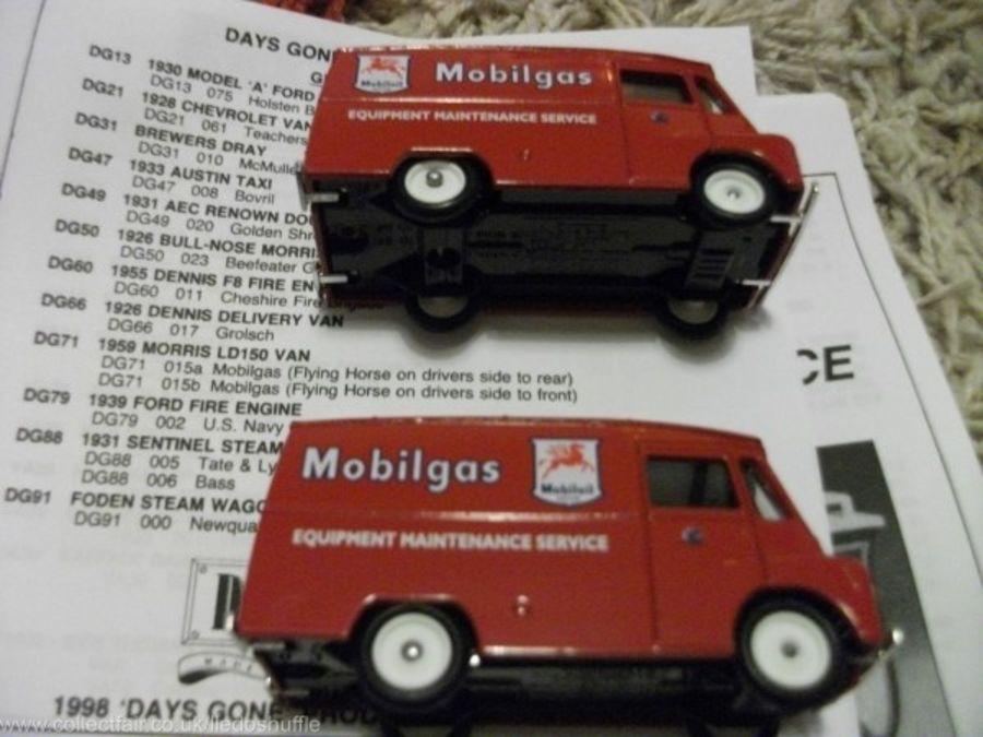 DG71015, Morris LD150 Van, Mobilgas, Reversed Tampo