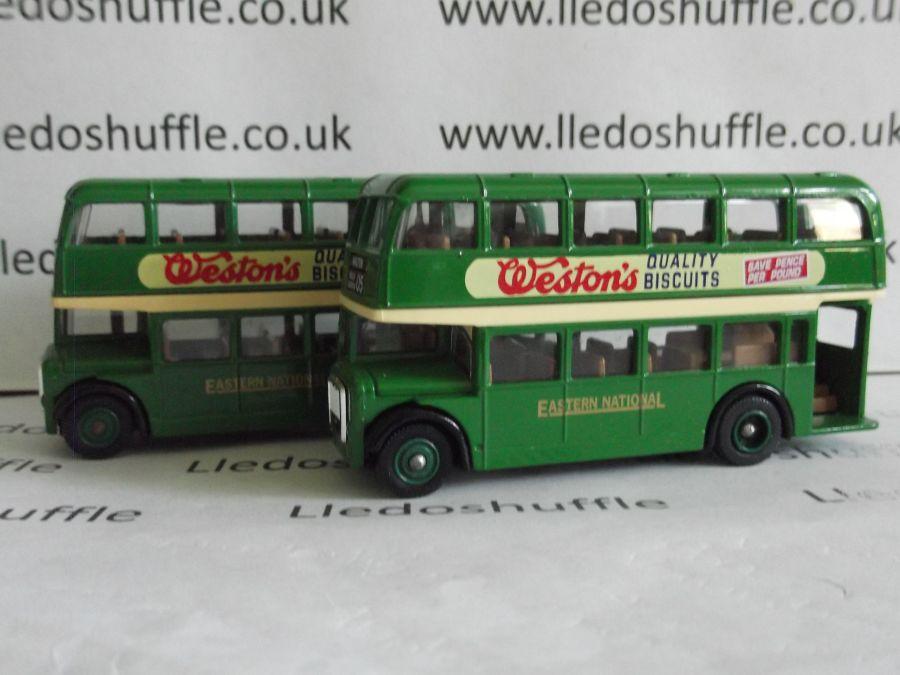 DG75001, Bristol LD6G Lodekka Bus, Eastern National, Westons Biscuits