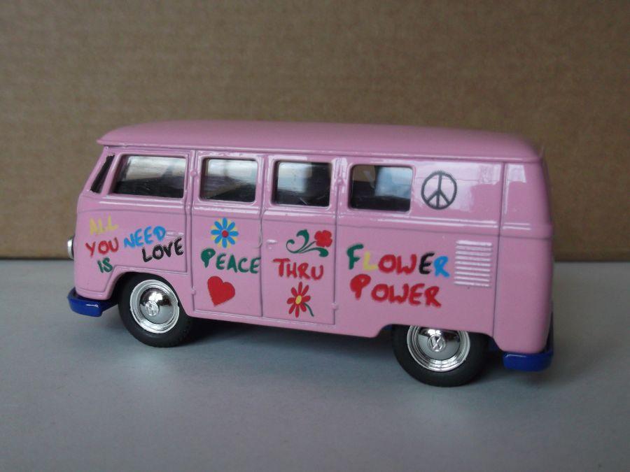 DG86000, VW Volkswagen Camper Van, Flower Power