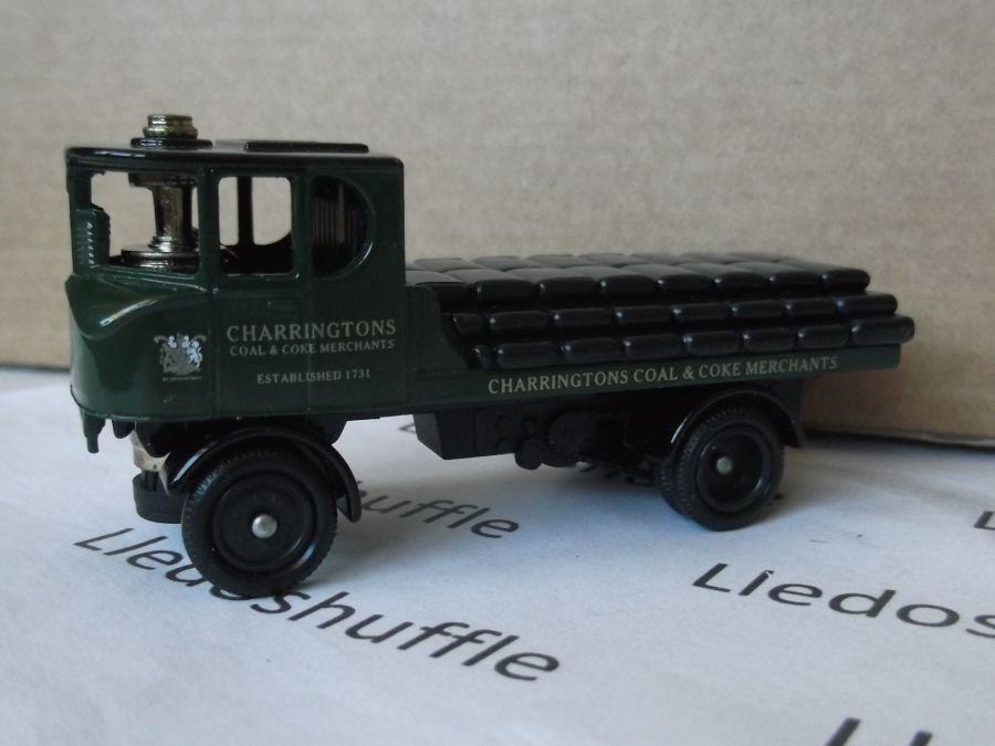 DG99001, Sentinel Flatbed Steam Wagon, Charringtons Coal & Coke Merchants