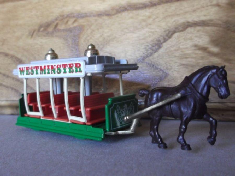 DG01000c, Horse Drawn Tram, Westminster, White Crest, 2nd Shaft