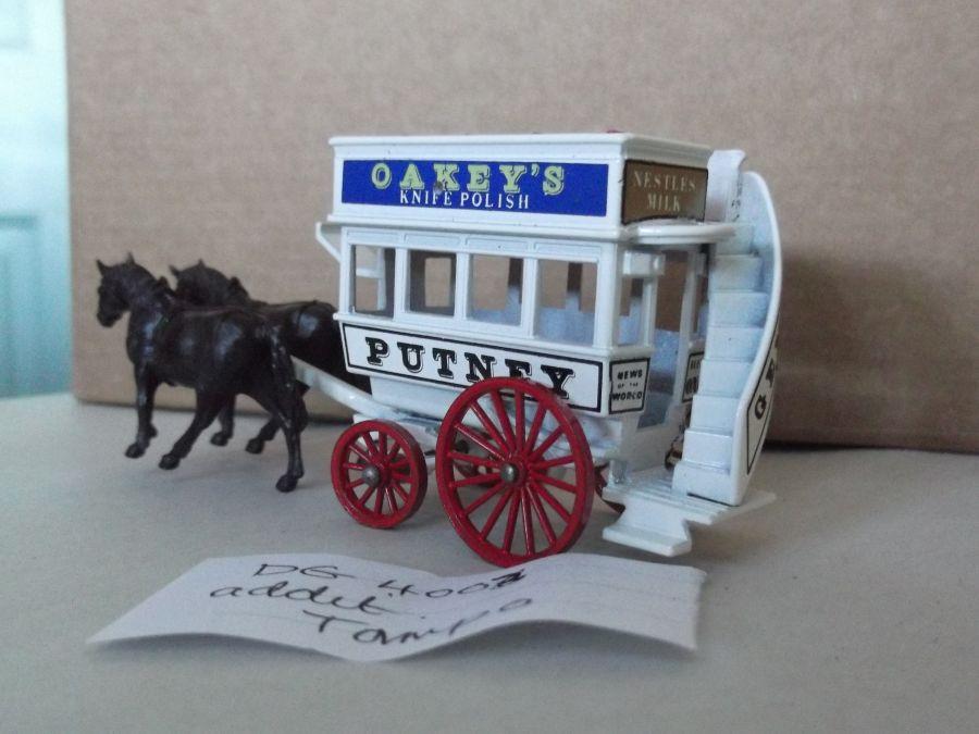 DG04003 Variation, Horse Drawn Omnibus, Oakeys, Putney, Additional Tampo