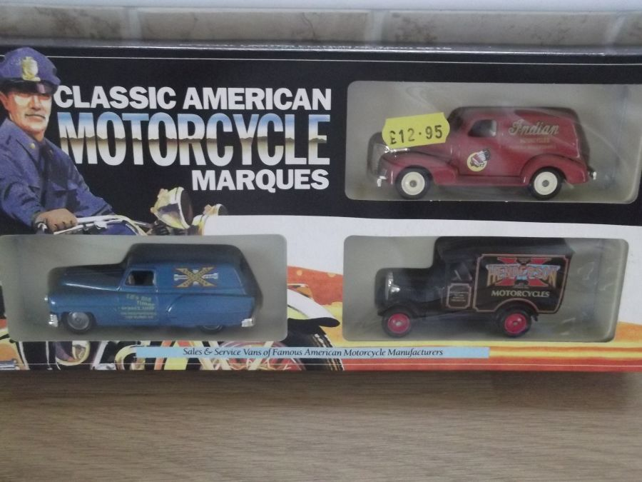 MCL1003, Classic American Motorcycle Marques 3 piece Set