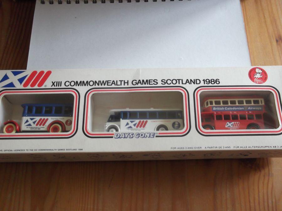 13th Commonwealth Games Scotland 1986, 3 piece Bus Set