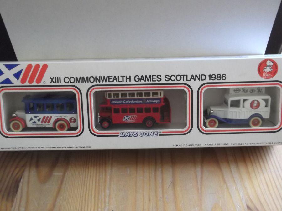 XIII Commonwealth Games Scotland 1986, 3 piece Set