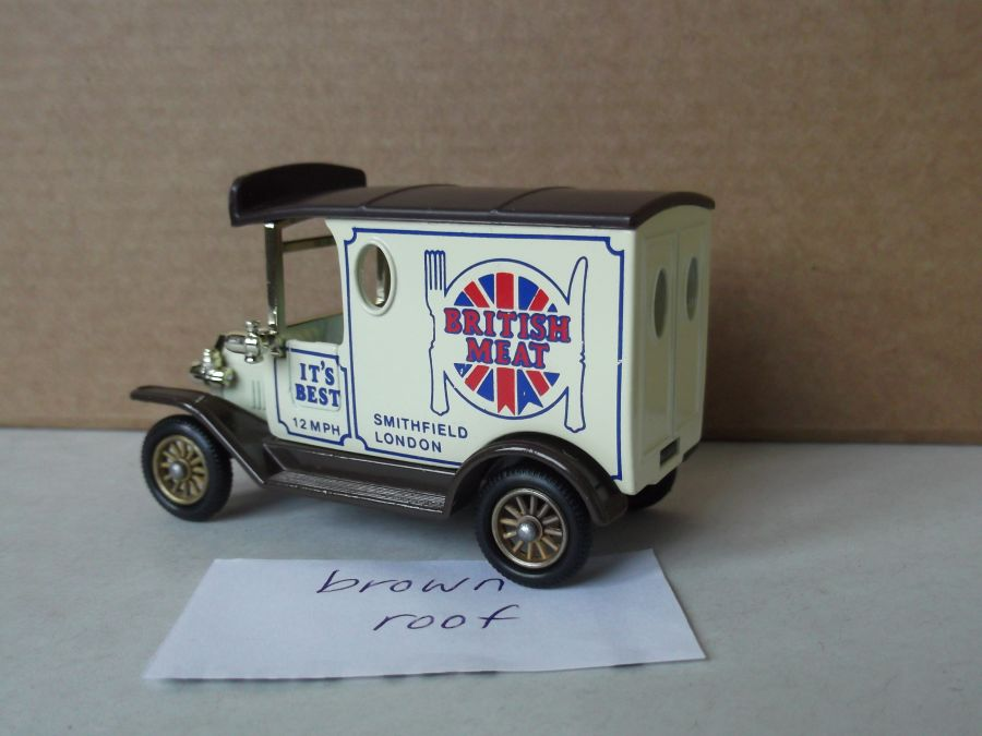 DG06003a, Model T Ford Van, British Meat with Brown Roof
