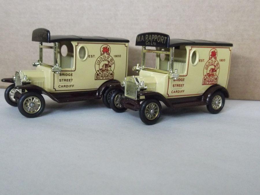 DG06006a, Model T Ford Van, Marcol, Cardiff, Maroon/Brown Print