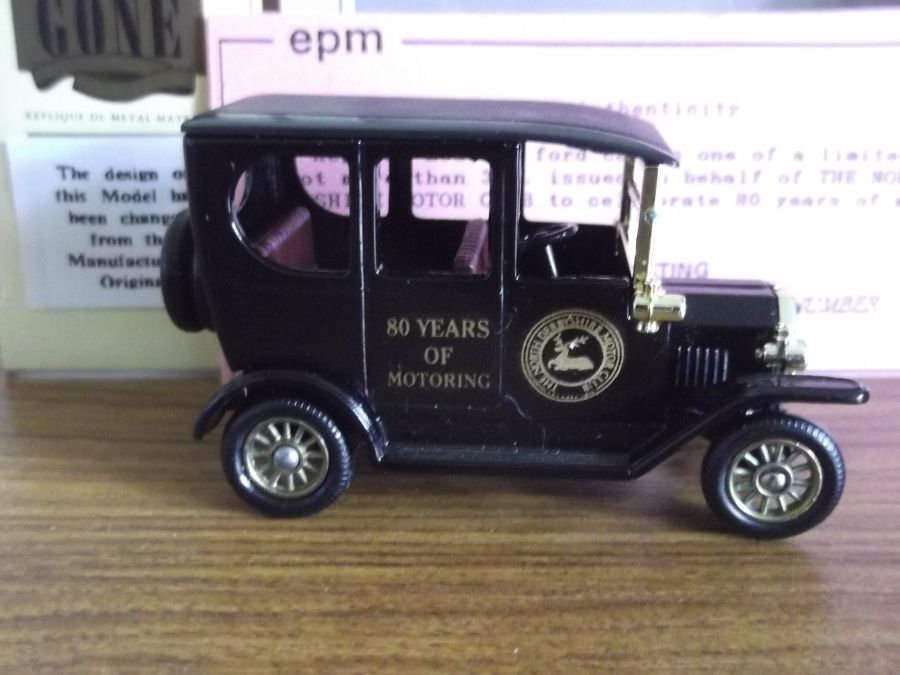 Code 3, DG33, Model T Ford Car, The North Derbyshire Motor Club, 80 years of Motoring