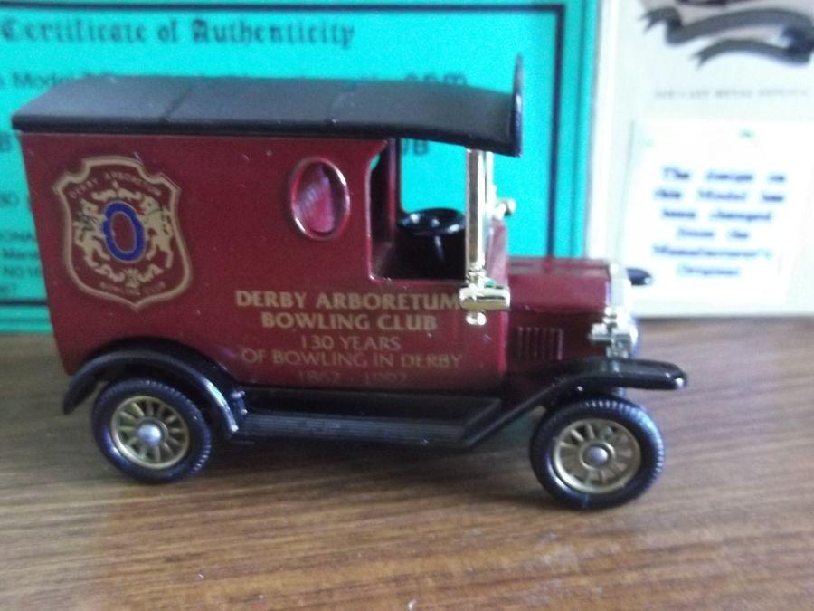 Code 3, LP06, Model T Ford Van, Derby Arboretum Bowling Club