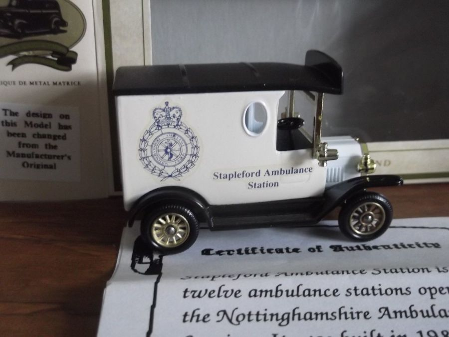 Code 3, LP06, Model T Ford Van, Stapleford Ambulance Station