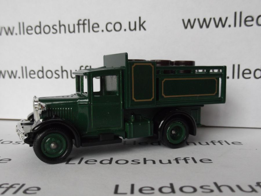 Code 3, LP20, Ford Stake Truck, Green with brown barrels, no livery