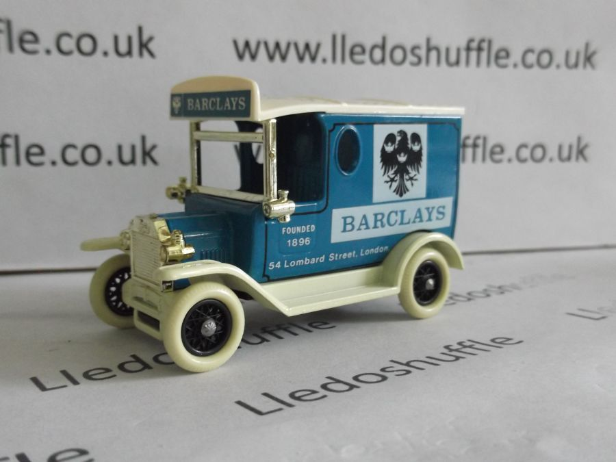 DG06033b Model T Ford Van, Barclays Bank, Cream Lettering