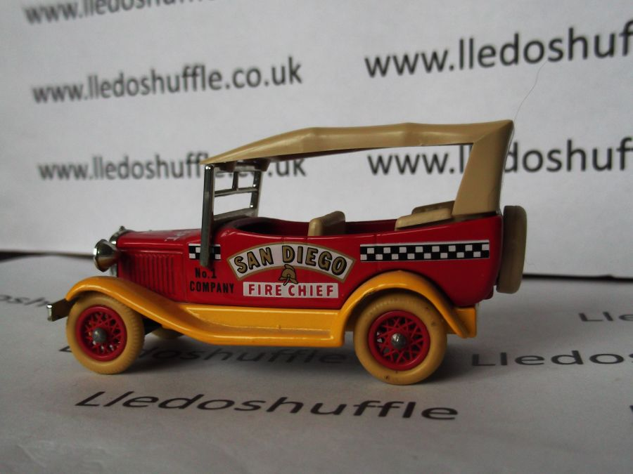 DG14000, Model A Ford Car with Hood, San Diego Fire Chief