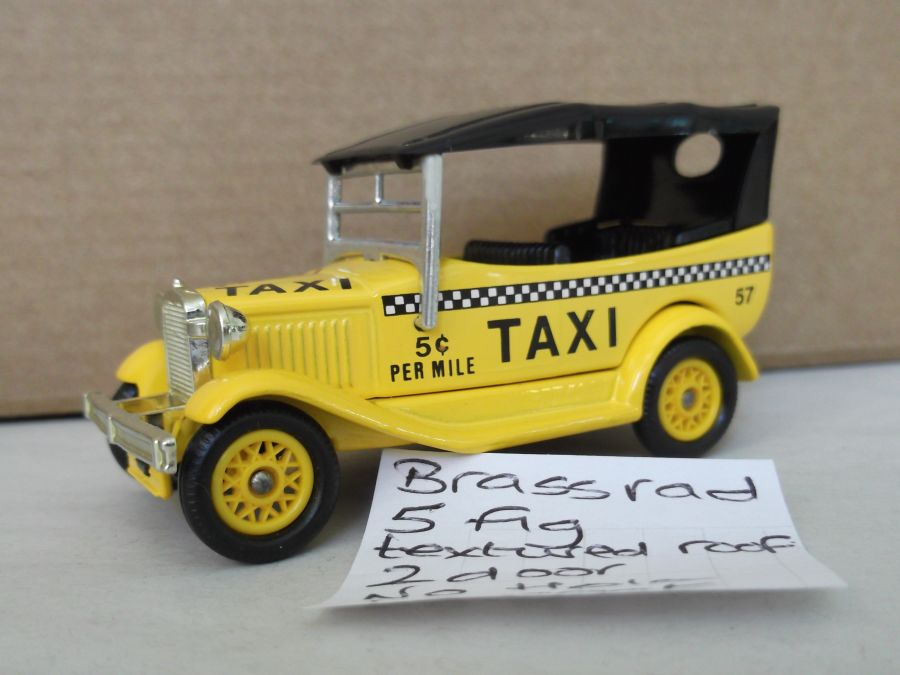DG14001, Model A Ford Car with Hood, Taxi