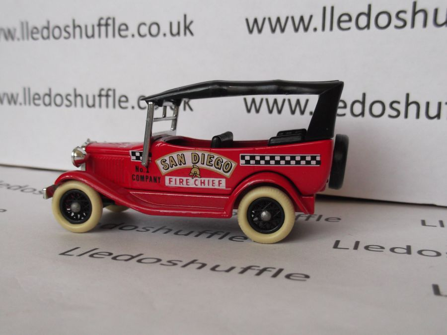 DG14007, Model A Ford Car with Hood, San Diego Fire Chief