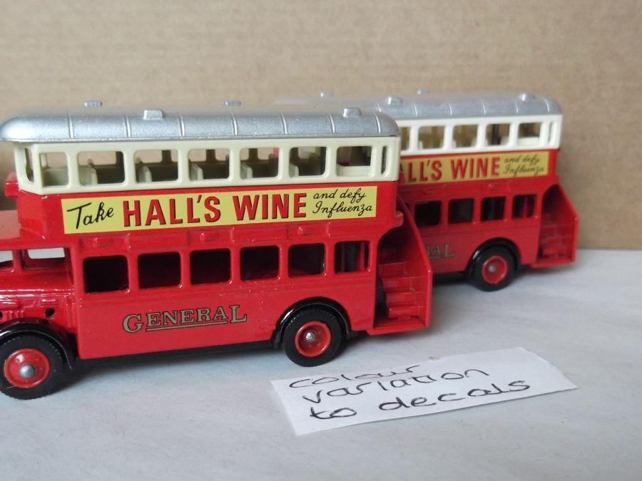 DG15000, AEC Regent Bus, Halls Wines