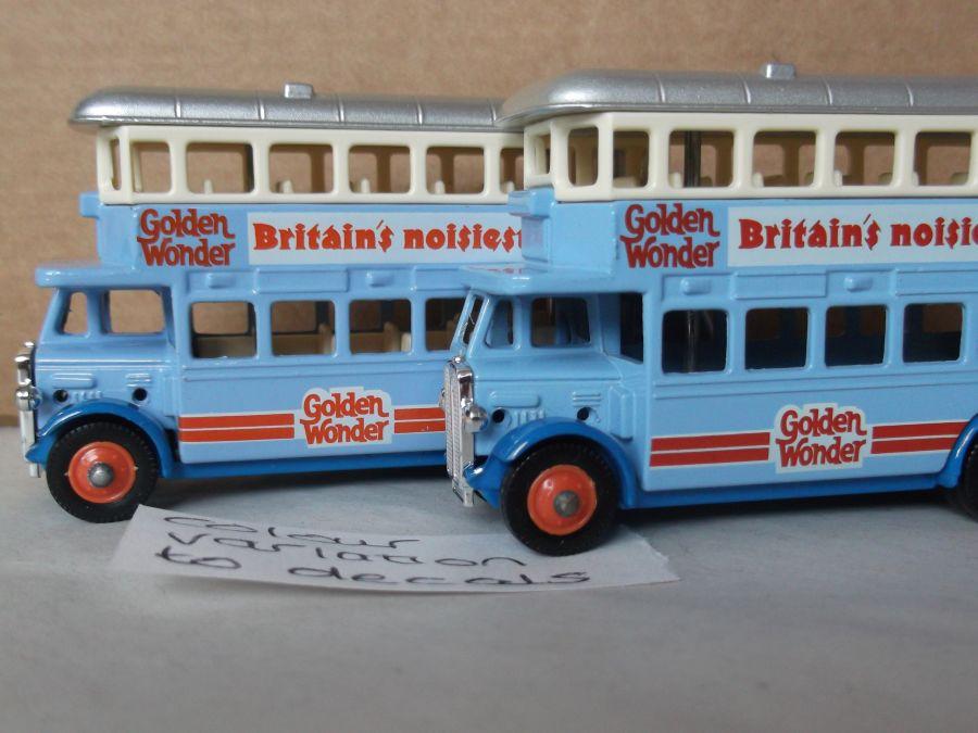 DG15017, AEC Regent Bus, Golden Wonder Crisps