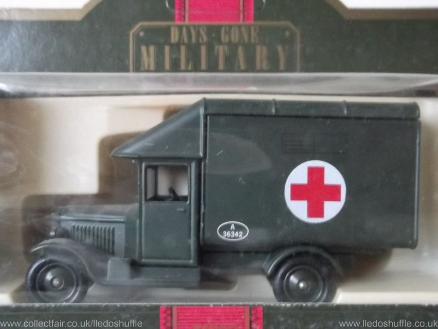 DG52004, Morris Parcels Van, Military Ambulance
