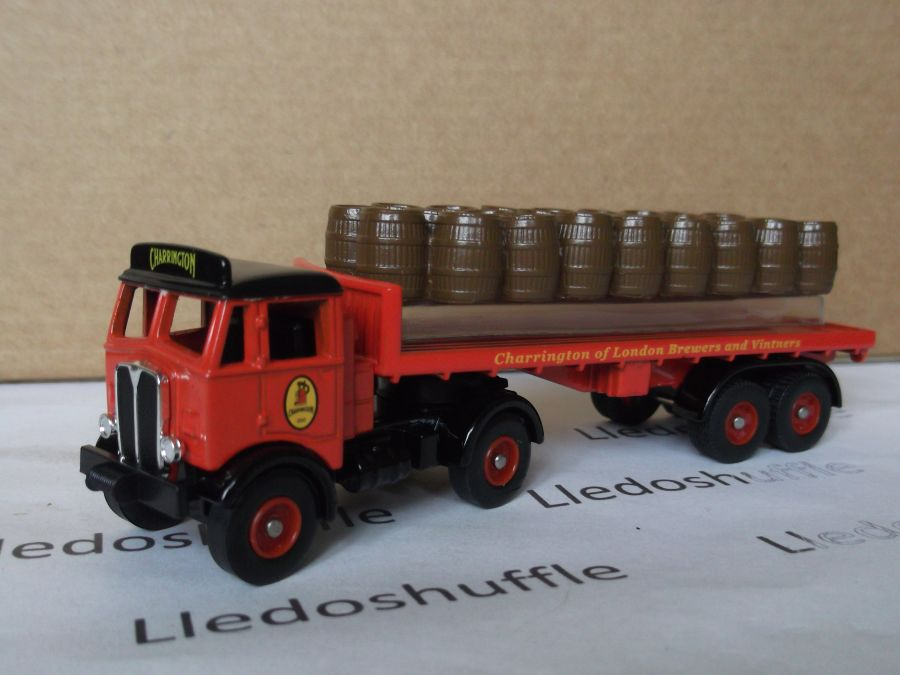 DG149001, AEC Mammoth with Flatbed Trailer, Charringtons
