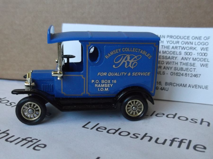 Code 3, PV006, Model T Ford Van, Ramsey Collectables