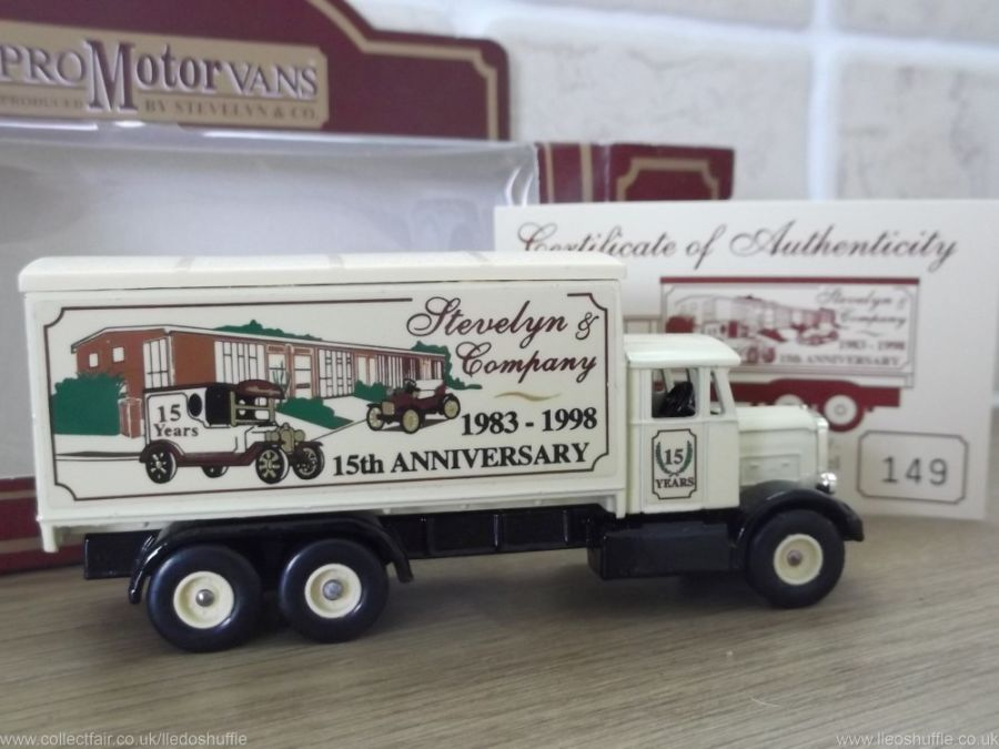 Code 3, PV044, Scammell 6w Truck, Stevelyn & Company, 15th Anniversary