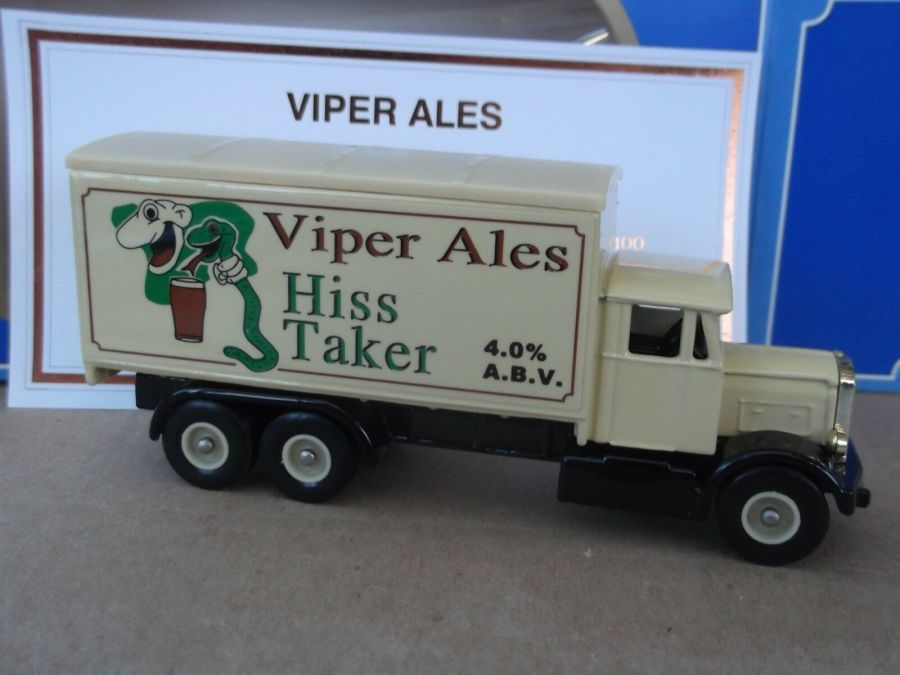 Code 3, PV044, Scammell 6w Truck, Viper Ales, Hiss Taker 4.0% A.B.V. Cert No 9 of 100