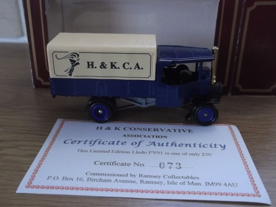 Code 3, PV091, Foden Steam Wagon, H & K Conservative Association