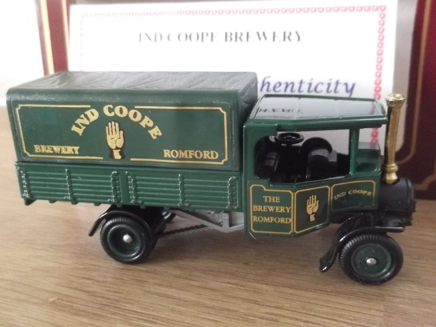 Code 3, PV091, Foden Steam Wagon, Ind Coope Brewery, Romford