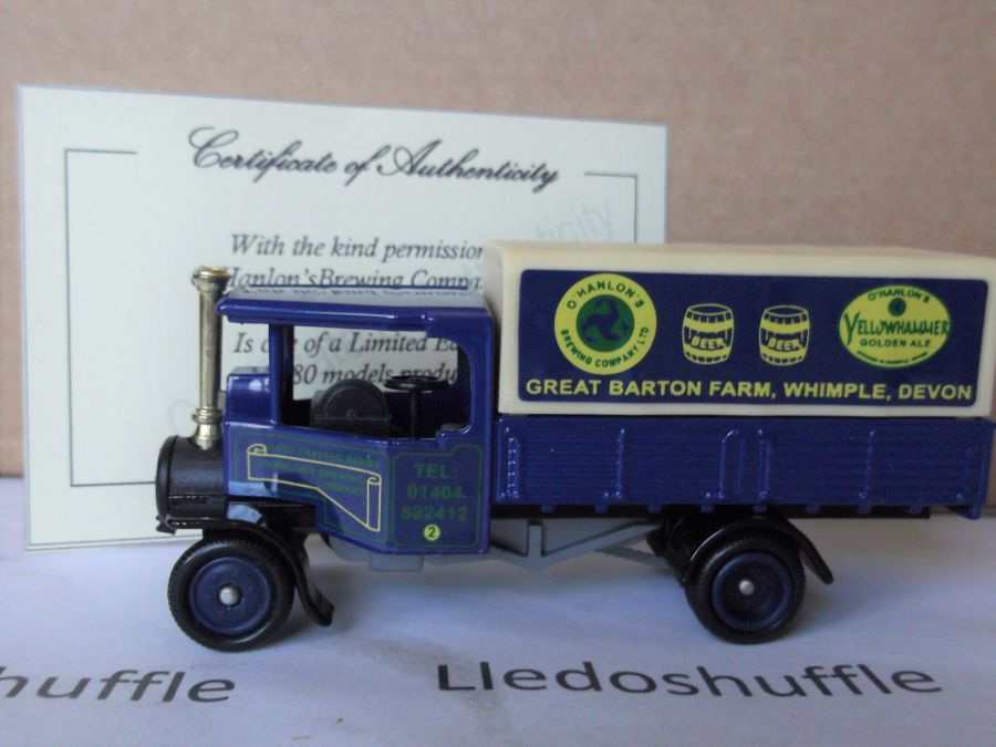 Code 3, PV091, Foden Steam Wagon, O'Hanlons Brewing Company, Whimple, Devon