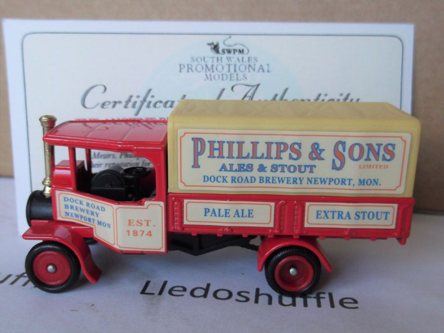 Code 3, PV091, Foden Steam Wagon, Phillips & Sons Ales & Stout, Dock Road Brewery, Newport