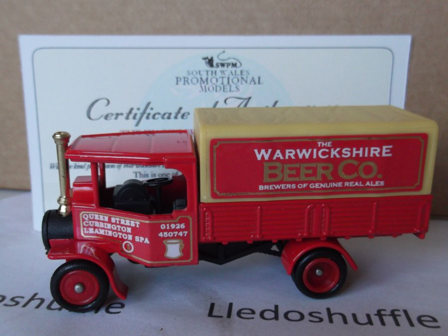 Code 3, PV091, Foden Steam Wagon, The Warwickshire Beer Company, Leamington Spa