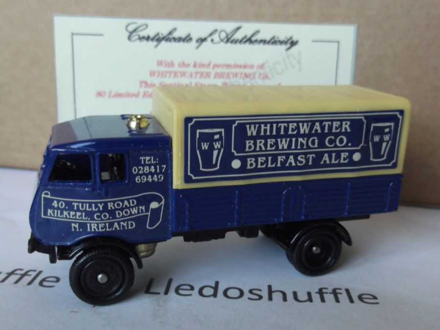 Code 3, PV097, S4 Sentinel 4w Steam Wagon, The Whitewater Brewing Co, Belfast Ales