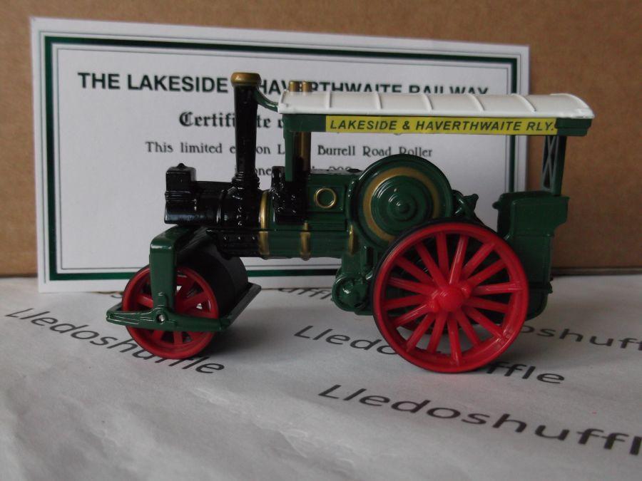 Code 3, PV126, Burrell Road Roller, The Lakeside & Haverthwaite Railway
