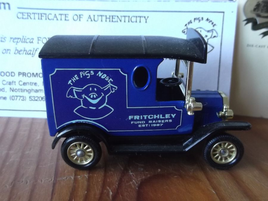 Code 3, LP06, Model T Ford Van, The Pigs Nose, Fritchley Fund Raisers