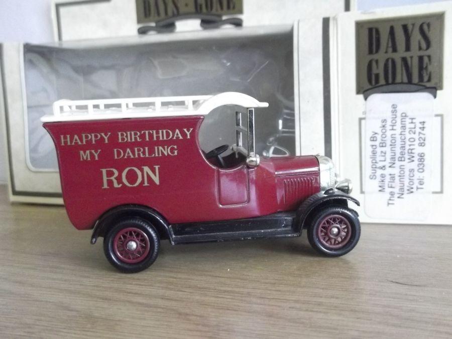 Code 3, LP50, Bull Nose Morris Van, Happy Birthday My Darling Ron