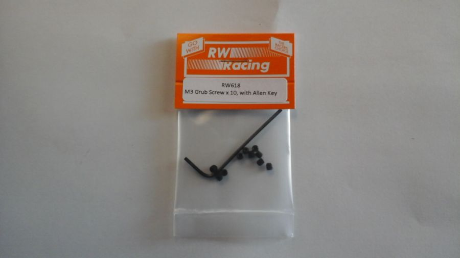M3 x 3mm Grub Screws, 10 off with Allen Key
