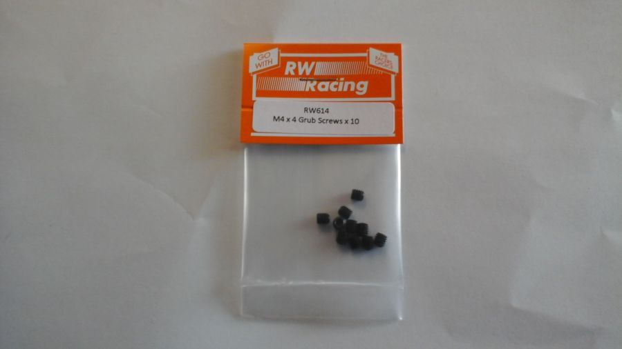 M4 x 4mm Grub Screws, 10 off