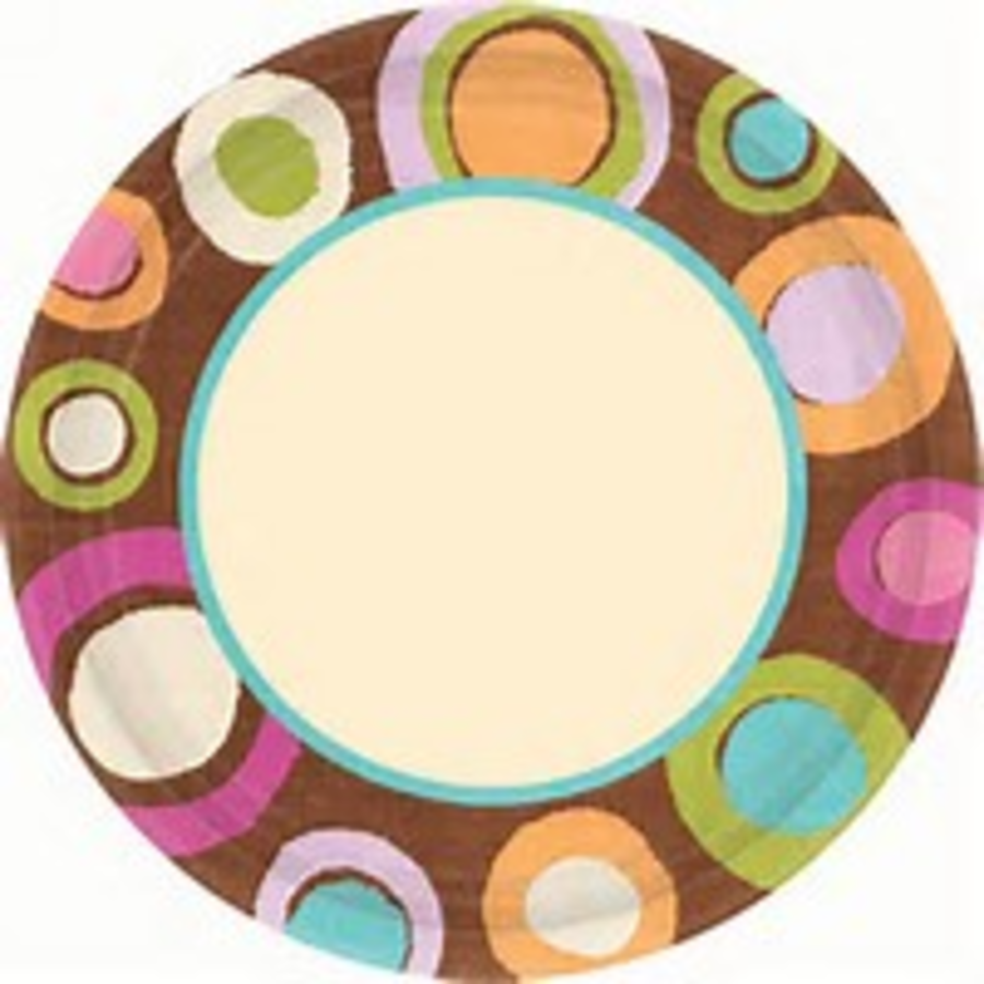 Cocoa Dots eco Party Plate 7