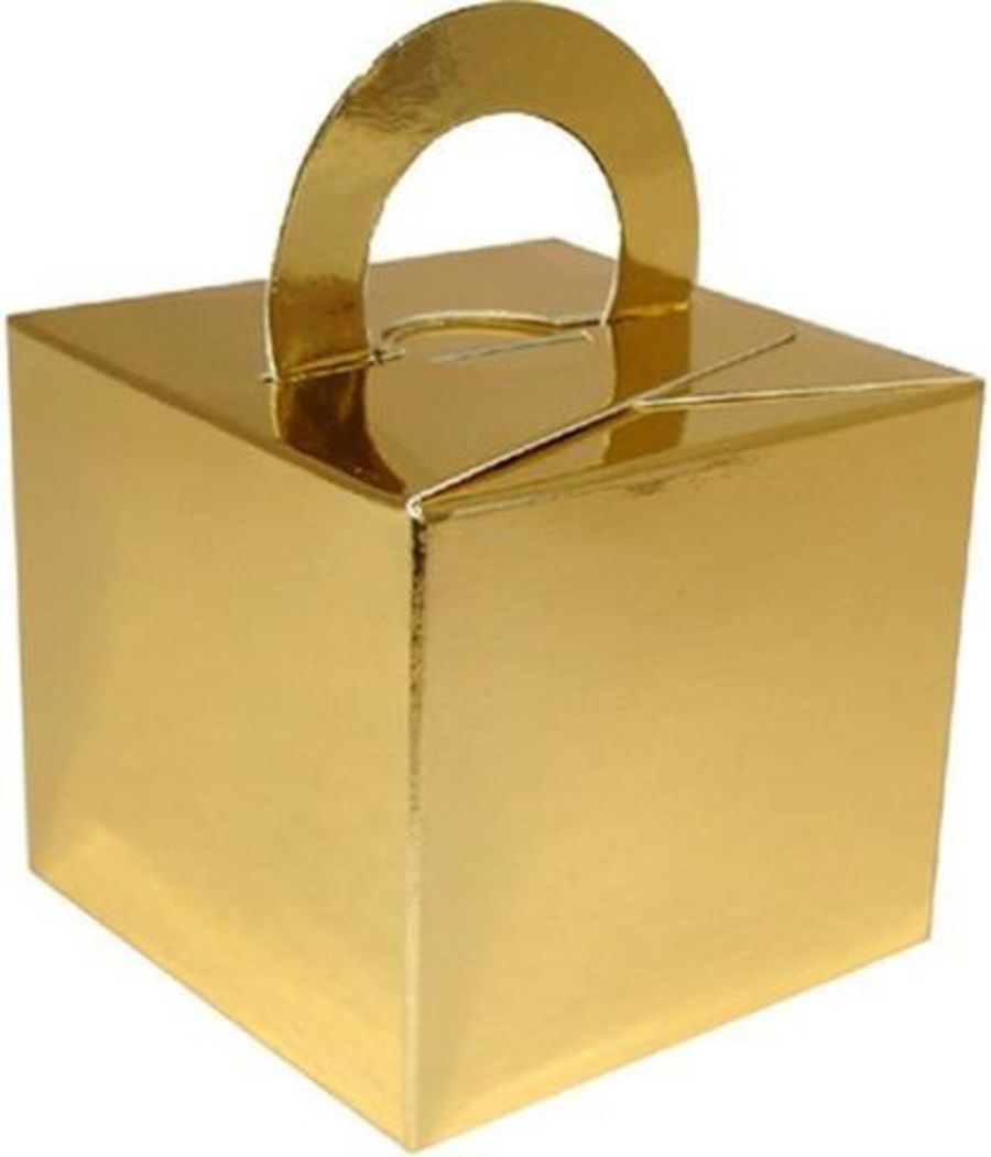 Balloon Weight / Gift Box - Gold