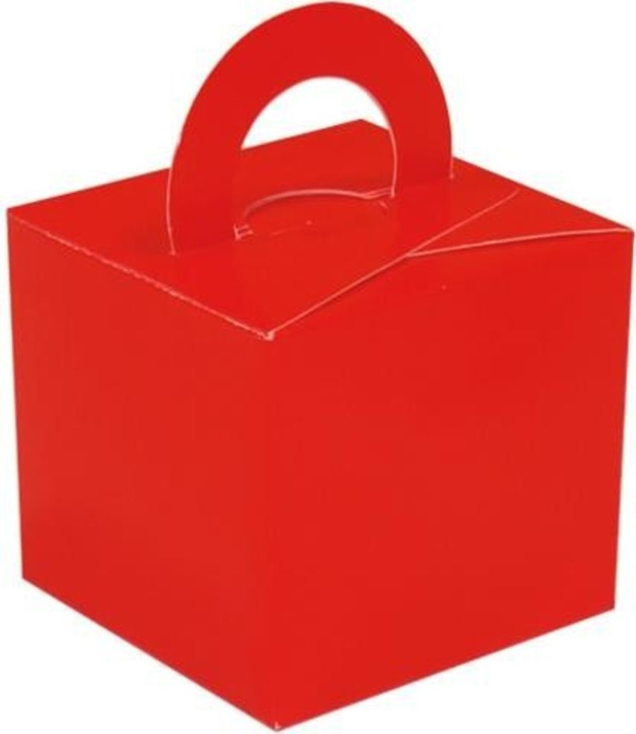 Balloon Weight / Gift Box - Red