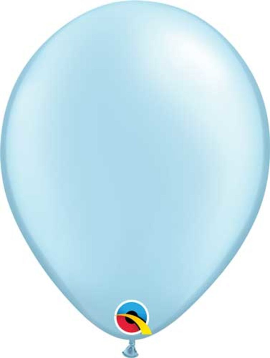 Pastel Pearl Light Blue 5 inch Latex Balloon