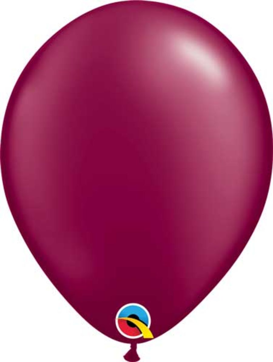 Radiant Pearl Burgundy 5 inch Latex Balloon