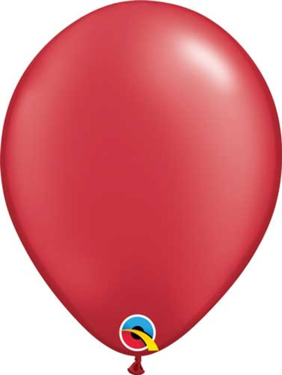 Radiant Pearl Ruby Red  - 11 inch Latex Balloon