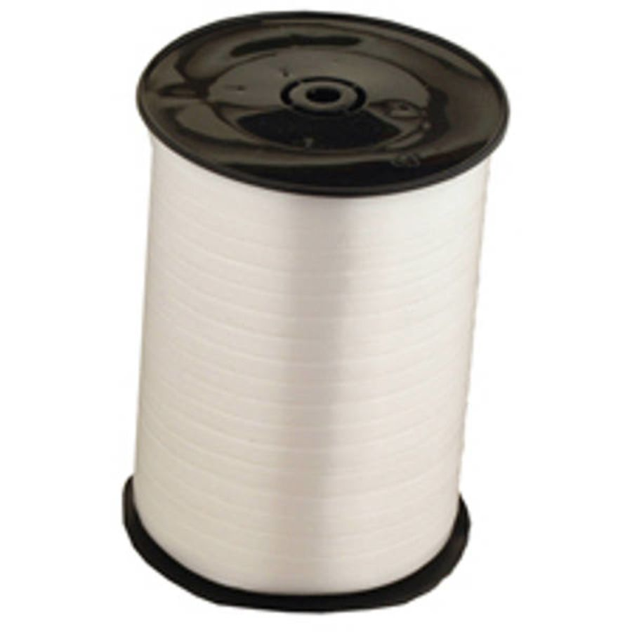 White Curling Ribbon 500m X 5mm