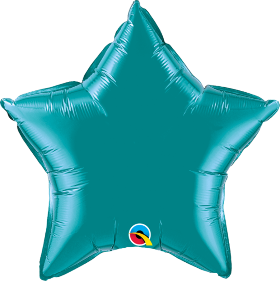 Teal Foil Star Balloon 20 inch